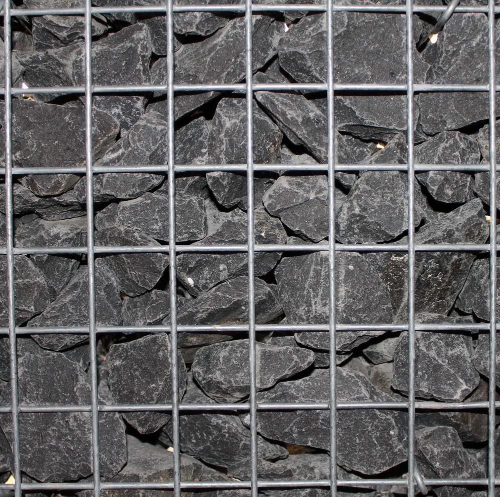 Basalt Bruchsteine 56-75mm in Gabionen