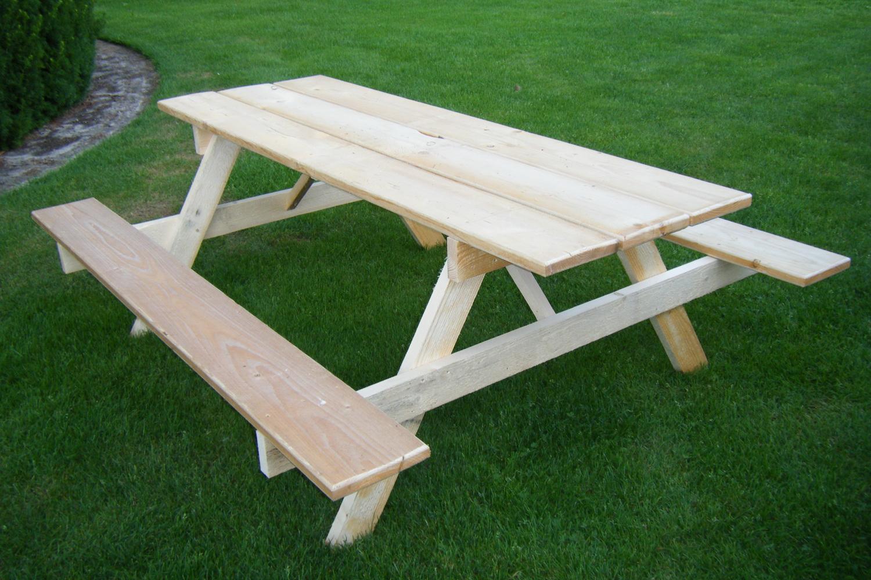 Bauholz Picknicktisch