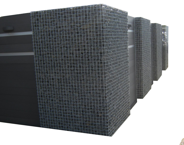 WPC-Gartenzaun-Set 90cm lang