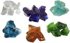Glas-Brocken Bruchsteine 6 Farben