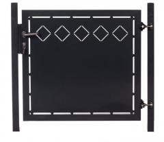 Zauntor mit Laserausschnitt (25x25cm) Karo