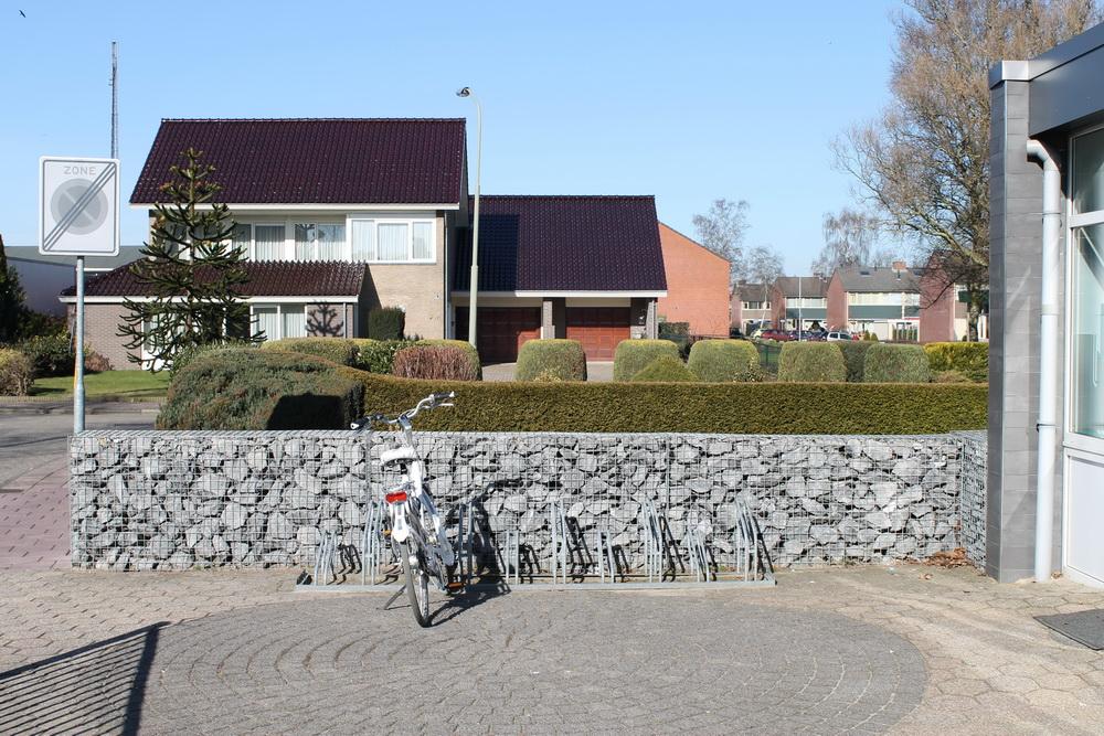 Gabionen befüllt mit Tournai Bruchsteinen