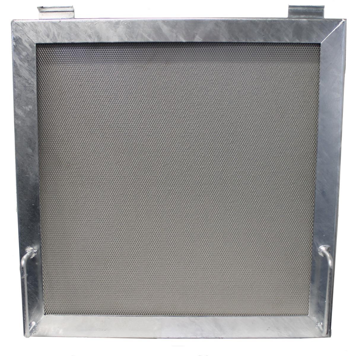 Funkenschutz für Gabionen Kamin von Gabinova 50x50cm