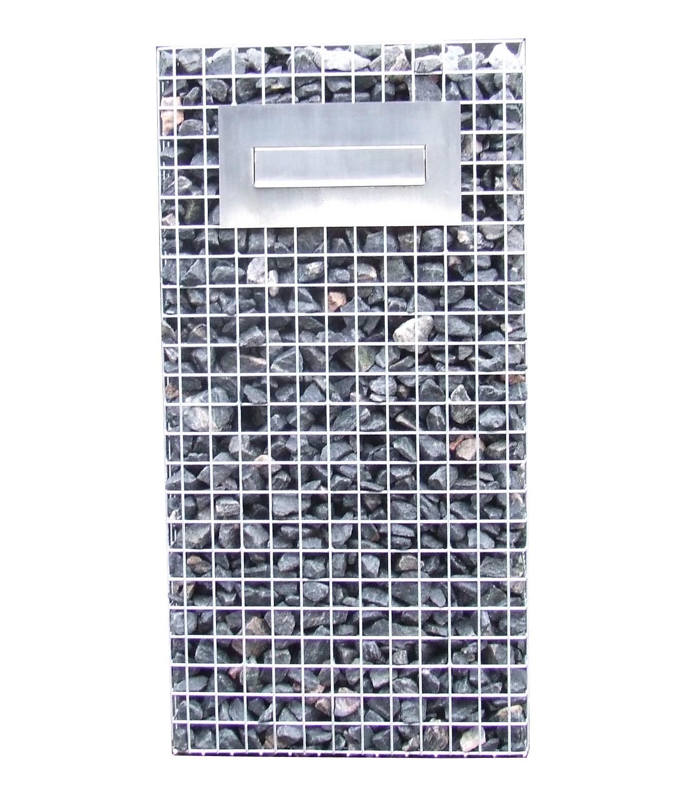 Gabionen Briefkasten Seite