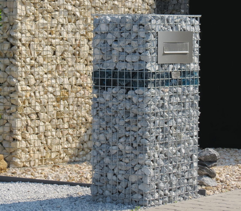 Gabionen Briefkasten lxhxt 0,60m x 1,20m x 0,45m