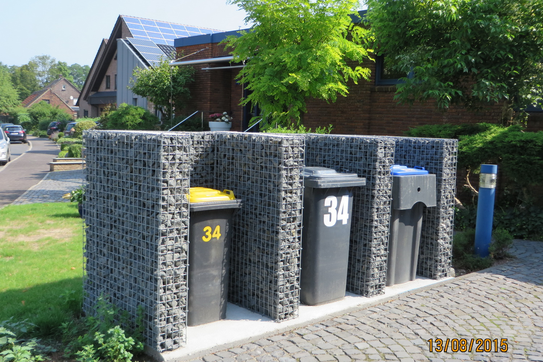 Gabionen Mülltonnenbox nach Maß