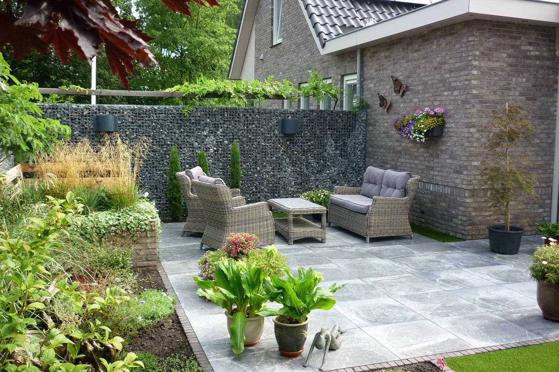 Gabionen mit Norwegen Granit Bruchsteinen 31-50mm