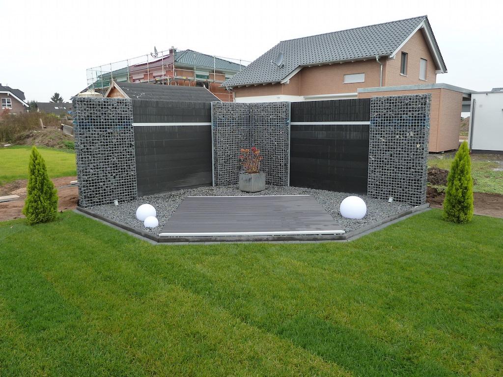 Wpc Gartenzaun Set 200cm