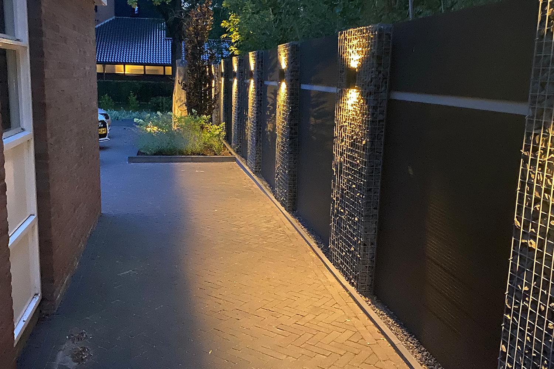 Gabionen mit WPC LED Beleuchtung