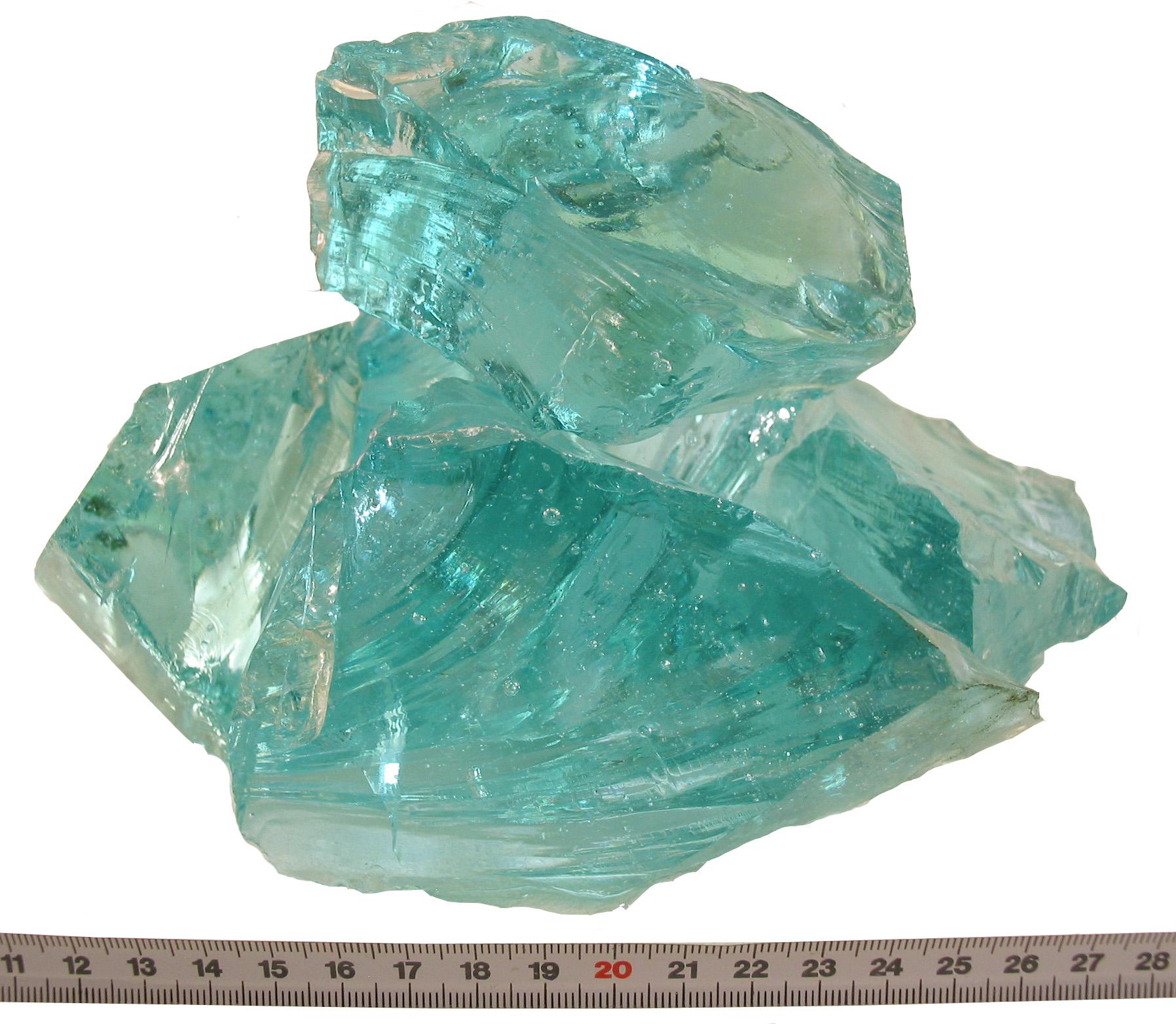 Glas-Brocken Bruchsteine Tuerkis 80-120mm