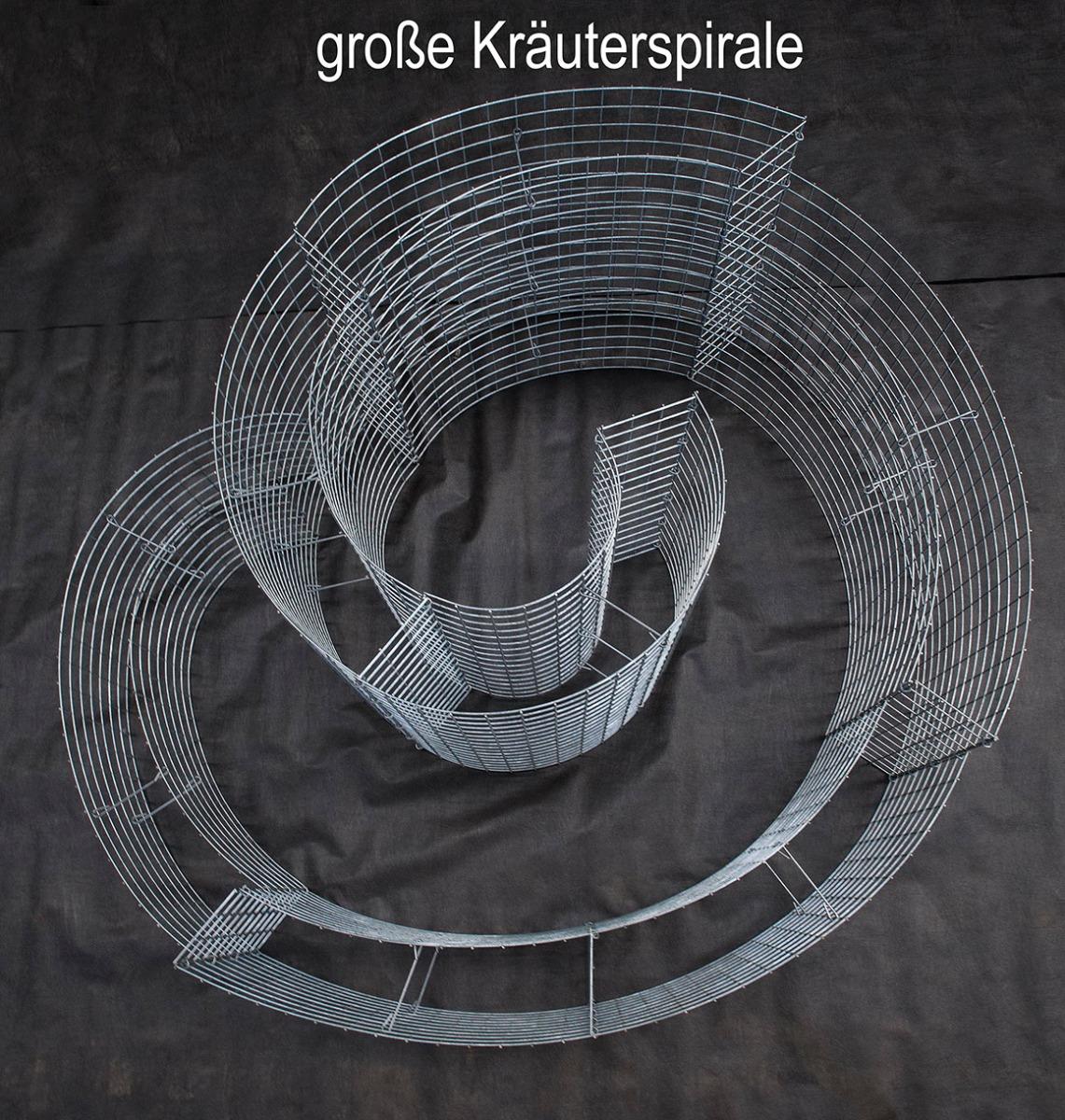 große Kräutersspirale Obenansicht