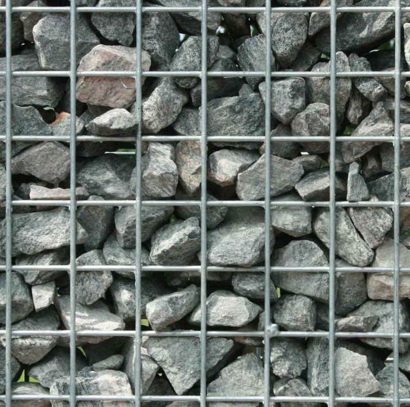 Norwegen Granit Bruchsteine 31-50mm in Gabionen