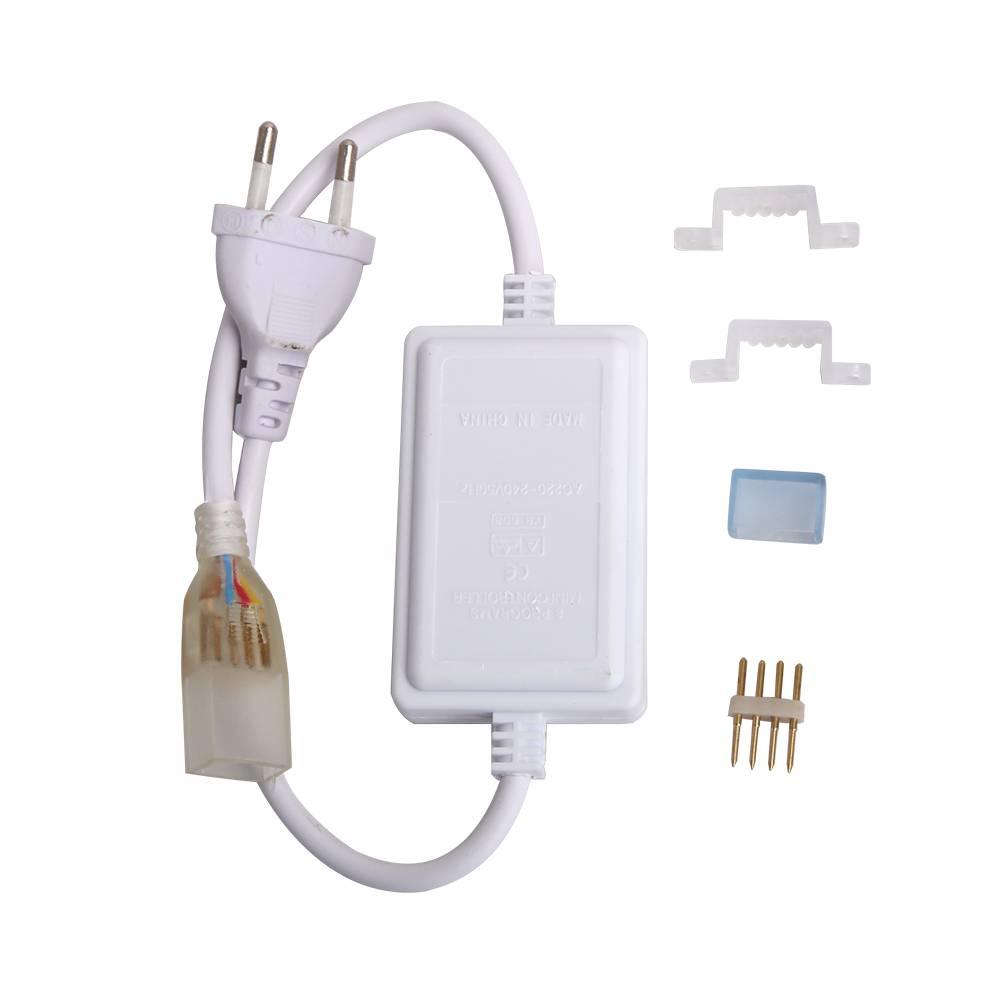 RGB LED Lichtslang 1 knops mini controller Plug & Play
