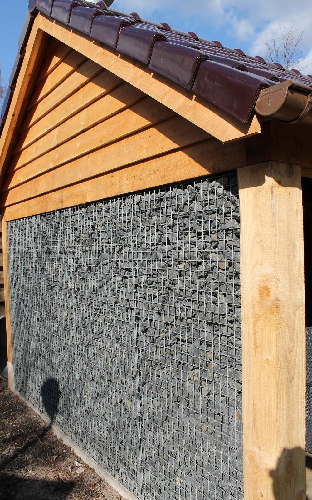 Gabionen mit Basalt Bruchsteinen 56-75mm