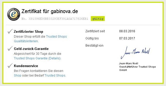 Trusted Shops Gabinova
